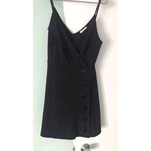 Black mini dress with buttons
